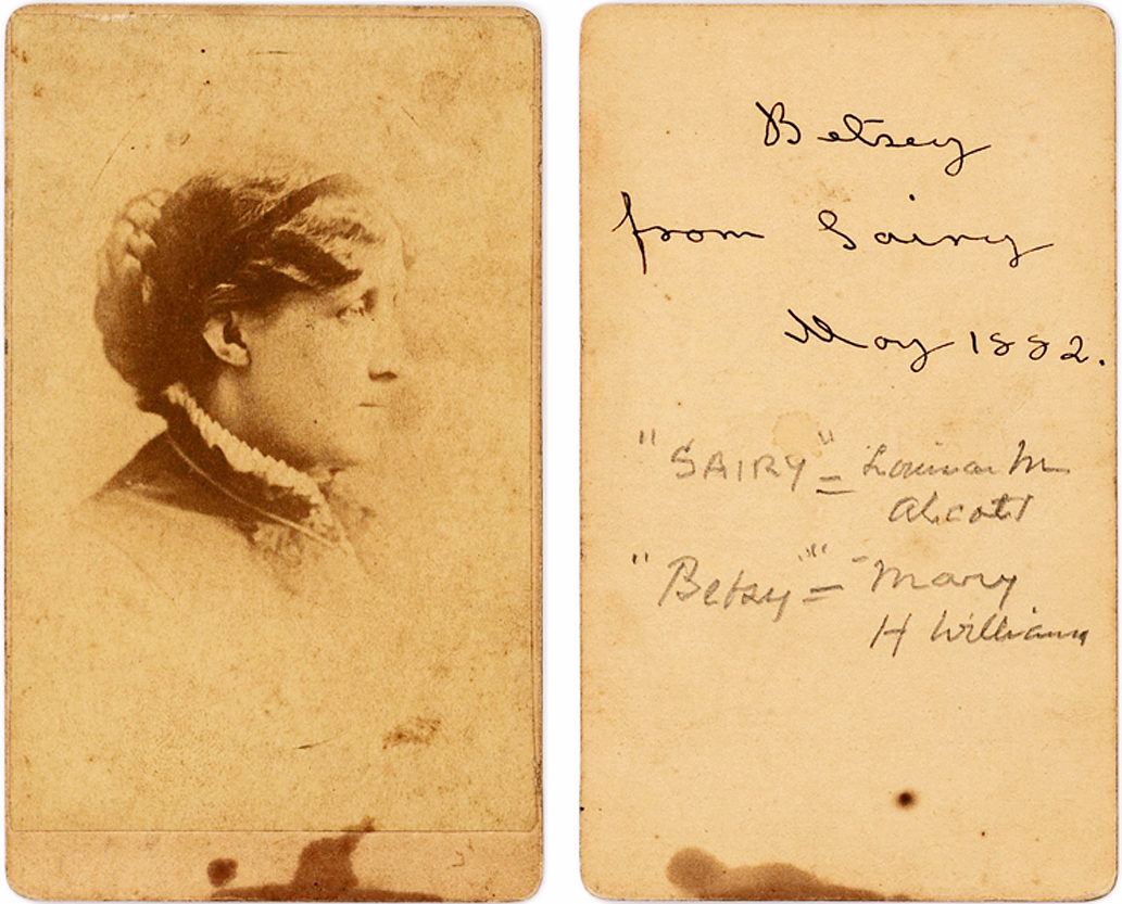 "Inscribed Photograph by the Author of  ""Little Women"" Using the Name of a Character from Charles Dickens' ""Martin Chuzzlewit"""