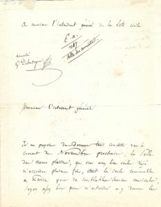 "21632Early Autograph Letter Signed Reserving a Venue for the Premiere of His ""Harold en Italie"""