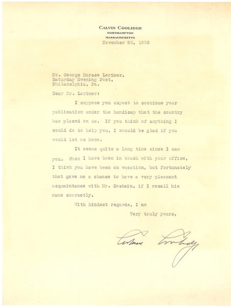 """Typed Letter Signed to the Editor of The """"Saturday Evening Post:"""" """"I can do quite a little better in the monthly magazines"""""""