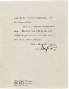 """20264Typed Letter Signed by the Pioneering Neurosurgeon: """"I am sorry you are having trouble with your eyes, but what tropic eyes may be,  unless heliotropic, I am at a loss to know"""""""