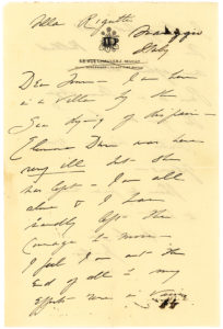 "20498Autograph Letter Signed Mourning the Tragic Death of Her Two Children: ""I feel I am at the end of all… I struggled but the thing has killed me after all… I am… dying of despair"""
