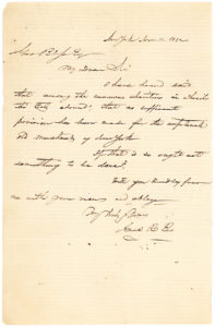 "20526Scarce Autograph Letter Signed by 19th-Century New York City Real Estate Developer about Charity for ""Old Merchants"""