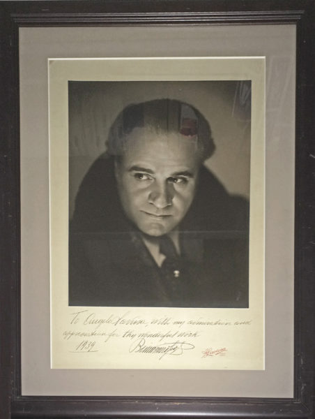 "Inscribed Photograph by the Italian composer of ""Pagliacci"" with Patriotic World War I Sentiment on the ""second day of the war"""