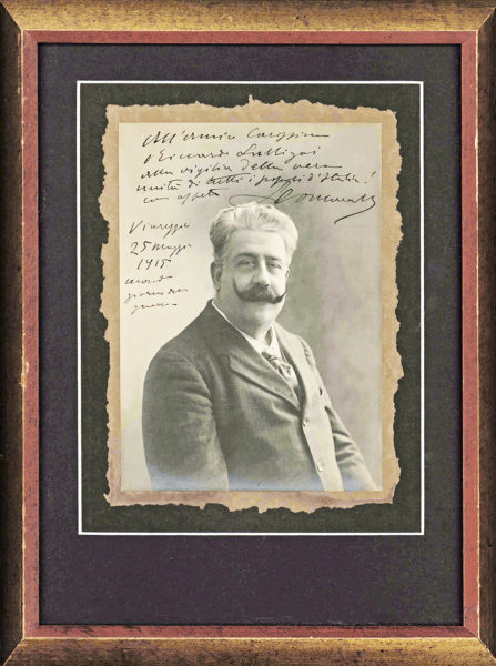 "A Handsome and Rare Half-Length, Gilt-Edged Boudoir Photograph of Massenet Inscribed to the ""Cercle des Arts"" in 1887"