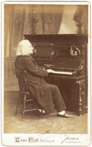 21852Inscribed Cabinet Photograph by the 75-Year-Old Liszt to the 21-Year-Old American Violinist Arma Senkrah, Whose Violin Was Later Owned by Isaac Stern