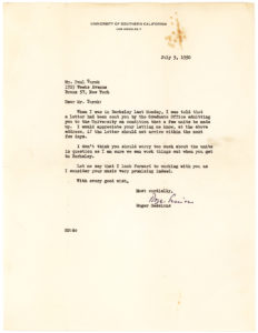 20770Typed Letter Signed to Paul Turok, a Composer and Critic Who Studied under Sessions at Berkeley and Princeton