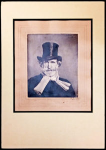 "20827Huge ""Boldini"" Portrait by Adolphe Braun Inscribed by Giuseppe Verdi to His Publisher Giulio Ricordi"