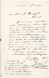 "18945Very Rare Letter Signed by the Composer of ""La Paloma,"" One of the Most Popular Melodies Ever Written, and a Favorite of Emperor Maximilian of Mexico"