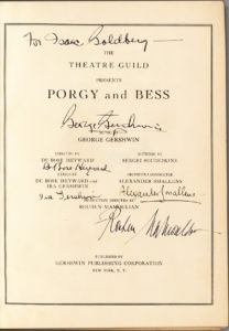 "29558First Edition of the Piano Vocal Score of America's Greatest Opera, ""Porgy and Bess,"" Signed by George and Ira Gershwin, Heyward, Mamoulian and Smallens"