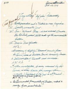 30227Handwritten Childhood Essay by the 16-Year Old Boston Latin School Student about English Novelist John Galsworthy