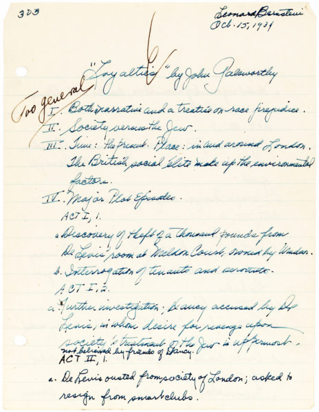 Unusual Presidential Appointment of American Composer and Conductor Leonard Bernstein as a Member of the Commission on Presidential Scholars