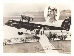 30261Signed Photograph by Lindbergh's rival for the Orteig Prize of his Biplane, the NC726K Curtiss T-32 Condor, Originally Owned by Eastern Air Transport