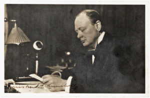 30332Signed Photograph Taken by Walter Thomas, Circa 1915, When Churchill Served as First Lord of the Admiralty, a Position He Resigned that Year Following the Disastrous Dardanelles Campaign