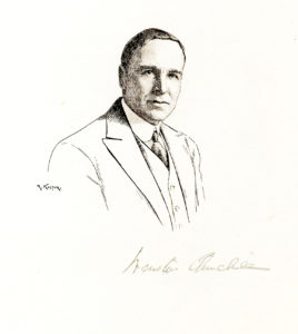 30326Original Robert Kastor Pen and Ink Drawing Signed by the Artist and the 'Wrong' Winston Churchill