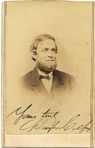 30338Carte‑de‑visite Signed Photograph of U.S. Grant's Vice President, Disgraced by the Credit Mobilier Scandal