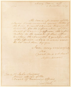 "30343Letter Signed to Commodore John Rodgers about ""qualifications of the officers"" Five Months Before the Naval Hero's Death in a Duel"