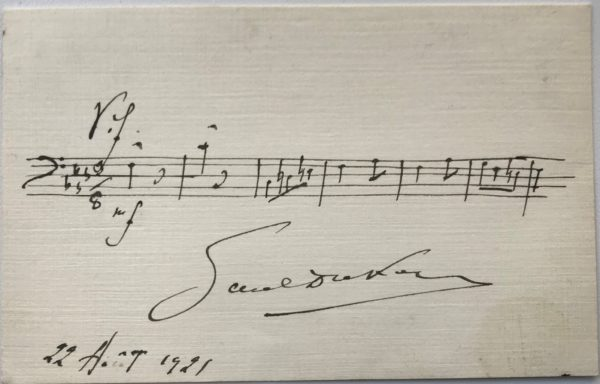 """Very Rare Letter Signed by the Composer of """"La Paloma,"""" One of the Most Popular Melodies Ever Written, and a Favorite of Emperor Maximilian of Mexico"""