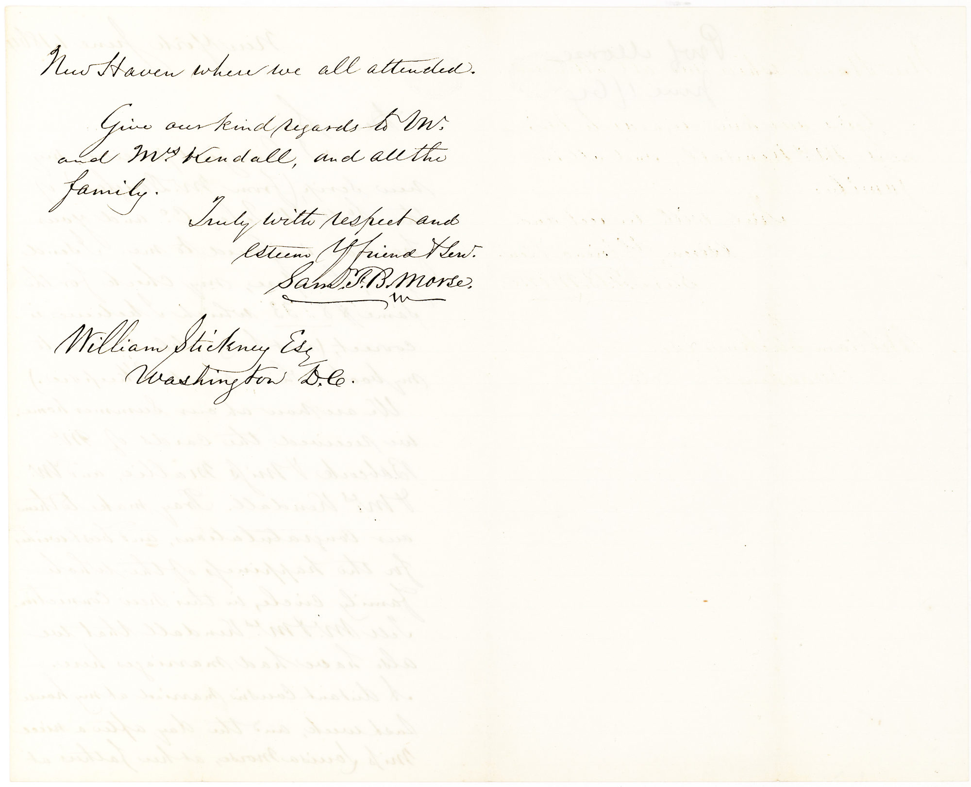 Satisfaction Of Morte Form | Autograph Letter Signed By The Inventor Of The Telegraph About Money