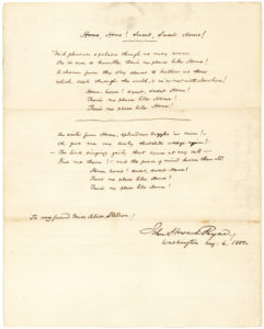 "30643Extremely Rare Fair Copy of the First Two Verses of ""Home! Sweet Home!"" One of President Lincoln's Favorite Melodies"