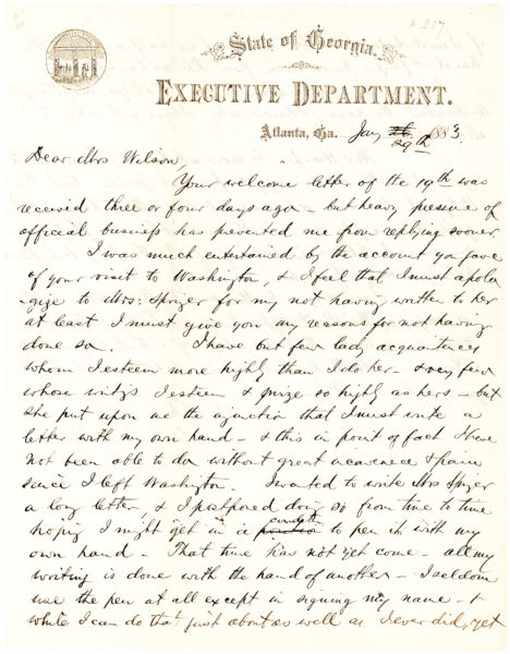 """Autograph Letter Signed by the Confederate General and Chief Exponent of the Lost Cause of the Confederacy, Mentioning """"The Confederate Survivors Association of Augusta"""""""