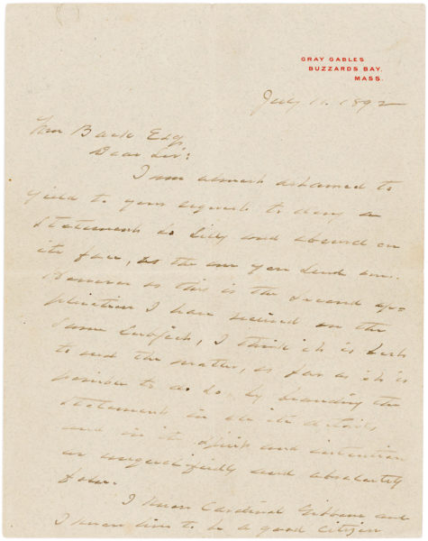 A Detailed Autograph Letter Signed Discussing Wilson and Woodrow Family Genealogy and his Scotch-Irish Ancestry
