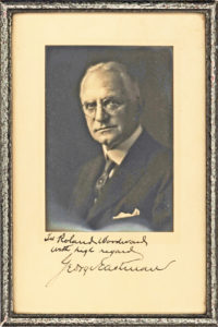 30823Photograph Signed by Photography Pioneer and Rochester, NY, Philanthropist