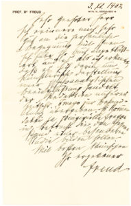 """31107Autograph Letter Signed on his Berggasse 19 Stationery: """"An artistic representation of a psychoanalytical intervention"""""""