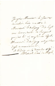 31146Very Rare Autograph Letter of the French Revolutionary Journalist and Agitator, Assassinated by Charlotte Corday