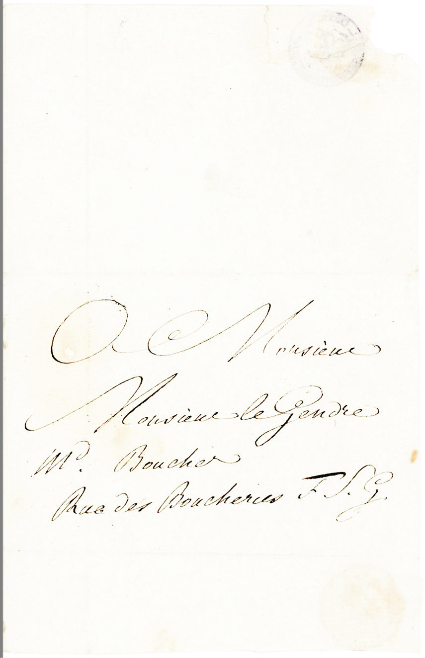 Very Rare Autograph Letter of the French Revolutionary Journalist and Agitator, Assassinated by Charlotte Corday