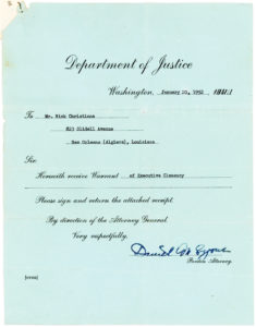 Rare Presidential Pardon for a Louisiana Food Distributor Who Violated the Emergency Price Control Act of 1942