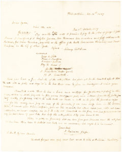 31522Autograph Letter about Being Refunded for his Investments in Cotton and Lands in the Western United States