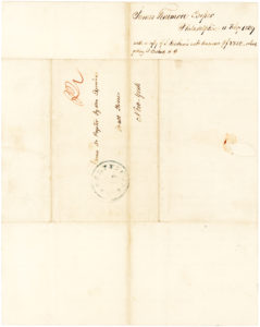 Autograph Letter about Being Refunded for his Investments in Cotton and Lands in the Western United States