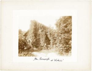 "John Burroughs Photographed Outside of his Cabin ""Slabsides"""