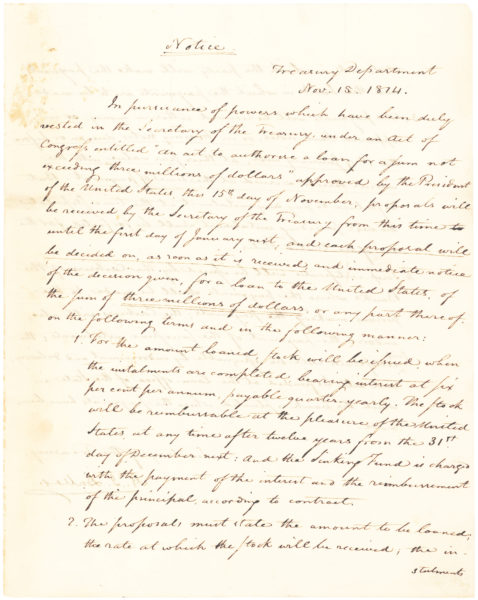 "Letter Signed to Commodore John Rodgers about ""qualifications of the officers"" Five Months Before the Naval Hero's Death in a Duel"