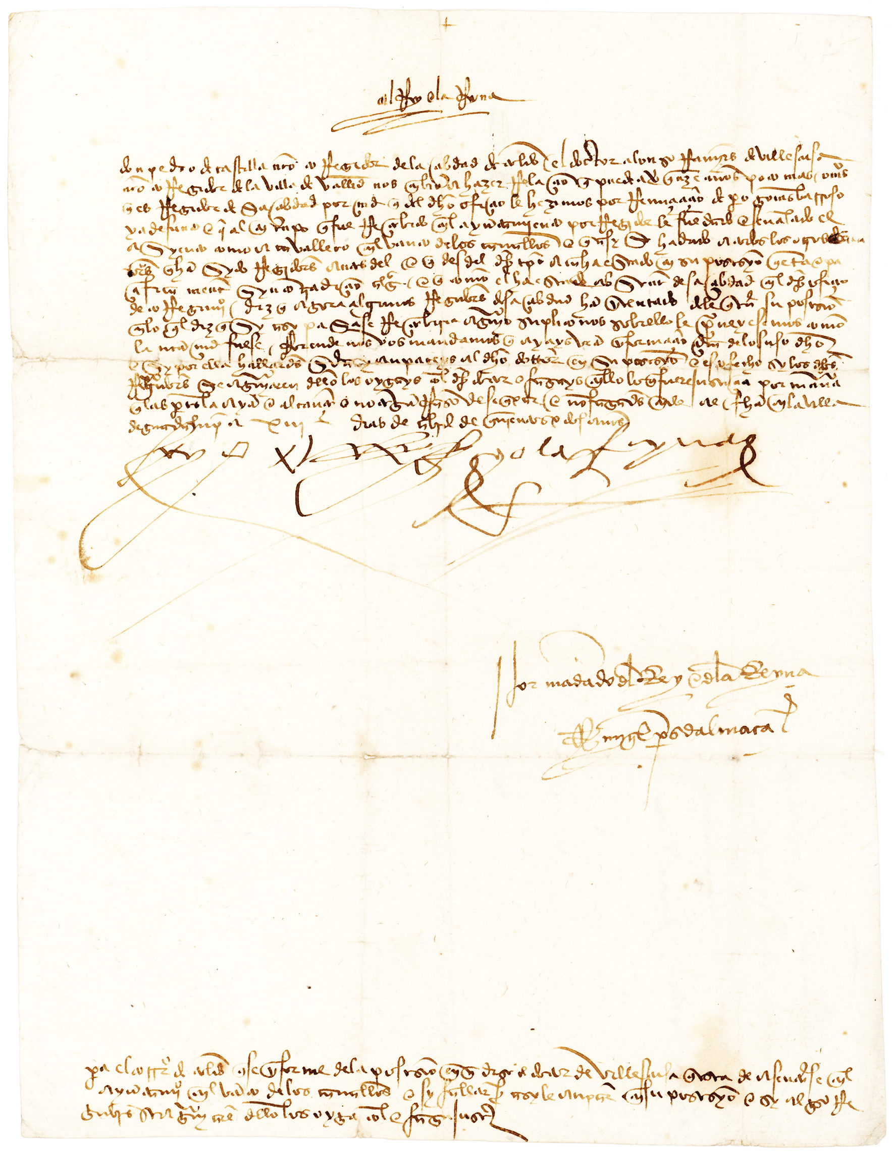 letter signed by king ferdinand of aragon and queen isabella of castile the patrons of christopher columbus lion heart autographs