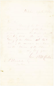 """32453Autograph Letter Signed by Civil War Union Major General McClellan, and """"one of the most controversial figures in American military history"""""""