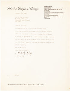 32886Letter from the Hungarian Artist and Teacher Who Was One of the Most Versatile Figures in 20th Century Modernism