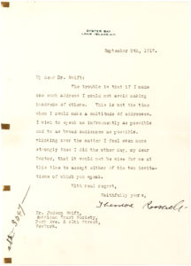 32991Typed Letter Signed by the Former President to the General Secretary of the American Tract Society, the First Major U.S. Publisher of Christian Literature