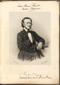 "33402Richard Wagner Inscribes a Score of ""Rienzi"" to His Good Friend Anton Pusinelli"