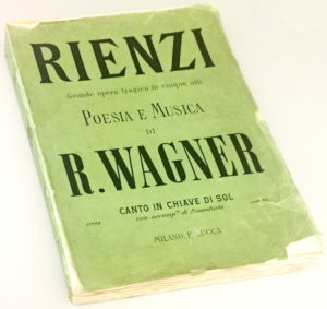 "Richard Wagner Inscribes a Score of ""Rienzi"" to His Good Friend Anton Pusinelli"