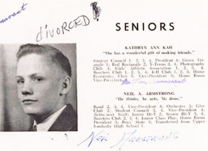 33903The First Man on the Moon's 1947 Wapakoneta Senior High School Yearbook!