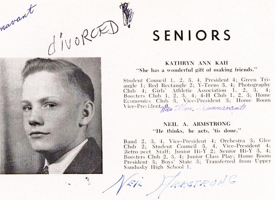 The First Man on the Moon's 1947 Wapakoneta Senior High School Yearbook!
