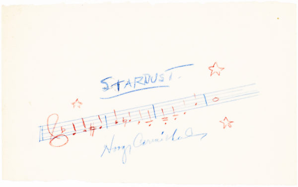 "Autograph musical quotation of ""April in Paris"" signed by the composer"