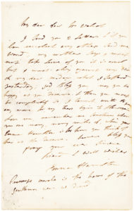 "34031ALS: ""…When you are many, many miles off, when your Emma Hamilton is far from you think of her as she deserves"""