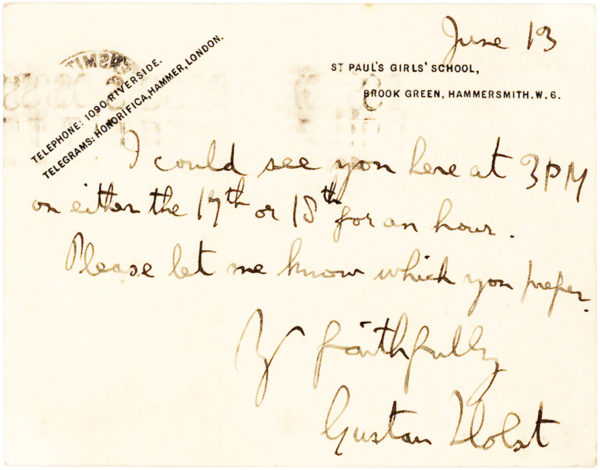 Autograph Letter Signed about his Acceptance into Berlin's Royal Academy of the Arts