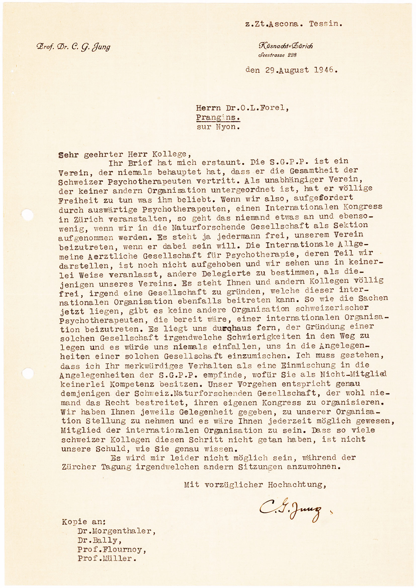 Testy Letter about the Swiss Society for Psychiatry and Psychotherapy