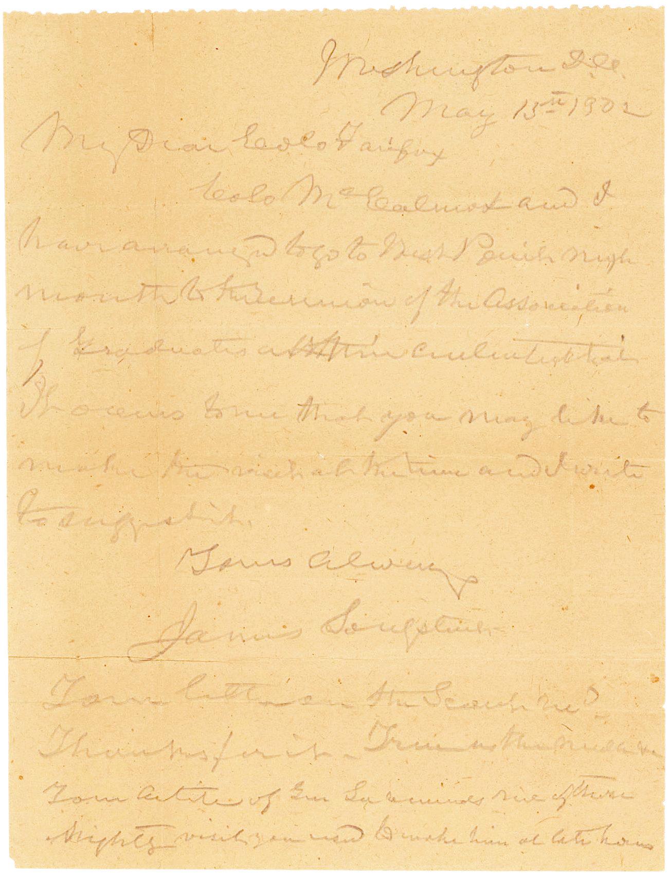 ALS Mentioning Robert E. Lee and West Point's Centennial