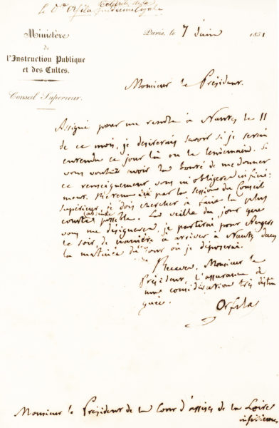 Rare, Fully Signed Autograph Letter from Two-Time Nobel Prize-Winning Physicist and Chemist Marie Curie
