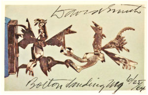 "34083Postcard of his 1945 sculpture, ""Cockfight – Variation"""