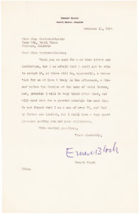 34251Typed Letter Signed by the Swiss-born, American composer of Schelomo and other 20th-century masterpieces